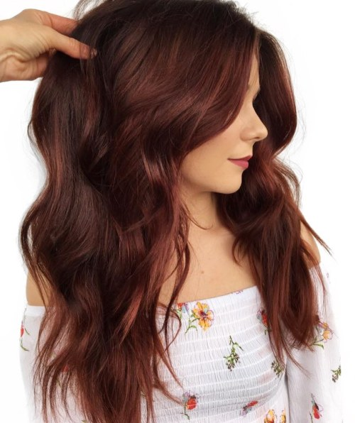 Long Red Brown Hair