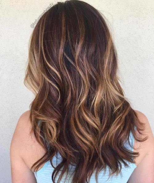 Dark Hair With Bronde Balayage