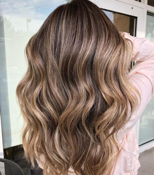 Subtle Balayage For Long Brown Hair