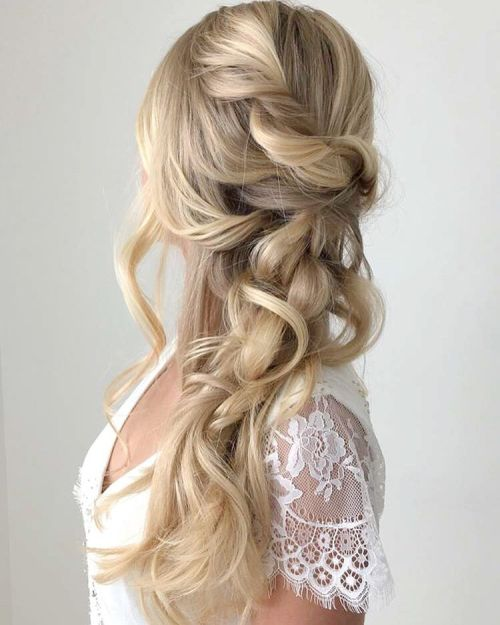 Bridal Half Updo For Long Hair