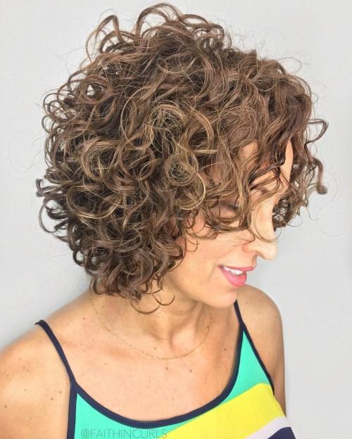 Light Brown Curly Bob
