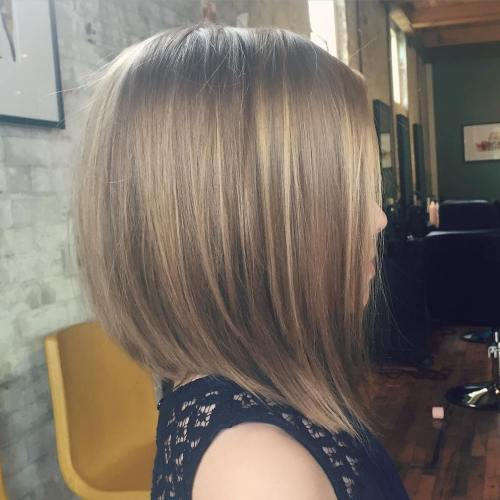 Long Layered Bob For Girls