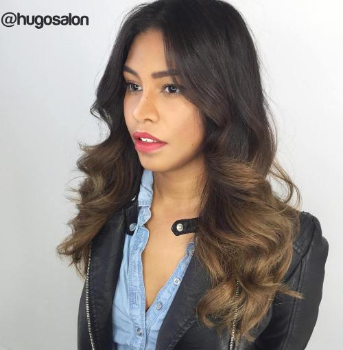 Subtle Brown Ombre Hair