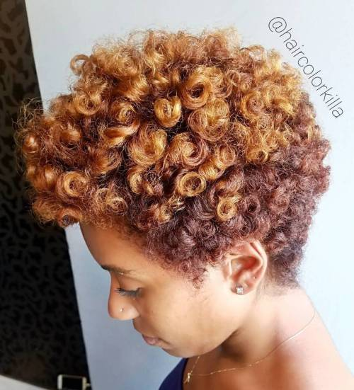 Tapered Natural Haircut For Women