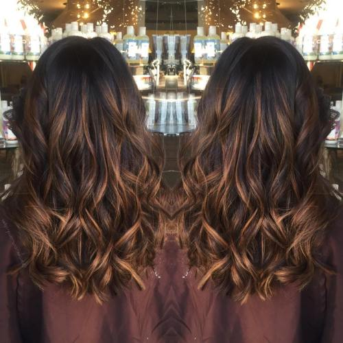 60 chocolate brown hair color ideas for brunettes thin caramel highlights for black hair pmusecretfo Images