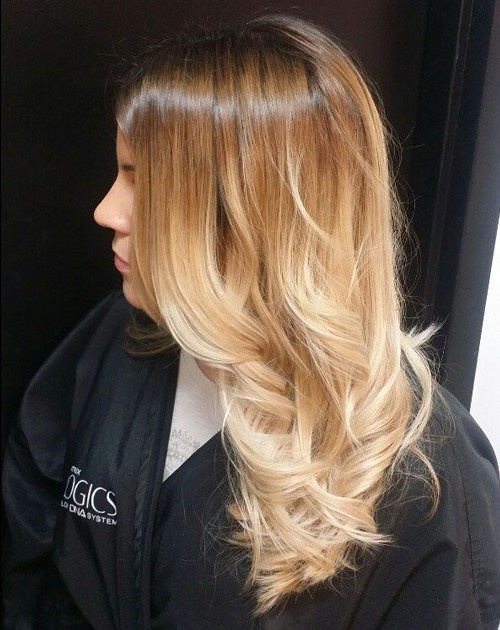 Caramel To Blonde Ombre Hair