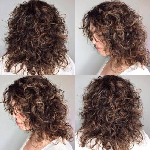Curly Shag For Medium Length Hair