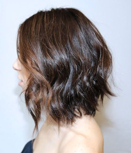 Loose Messy Waves In A-line Bob