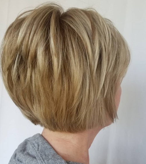 Short Modern Bob With Piece-y Layers