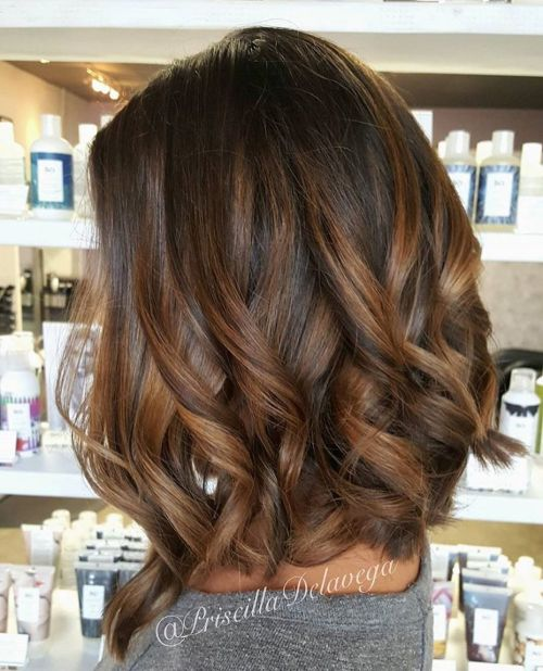 Sophisticated Brown Balayage Hair