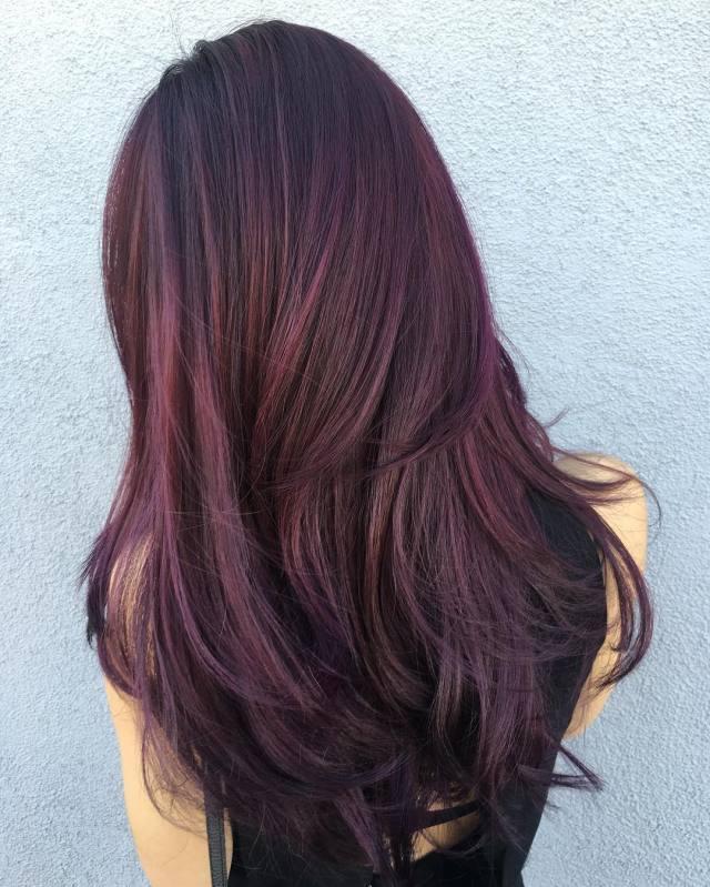 50 shades of burgundy hair color: dark, maroon, red wine