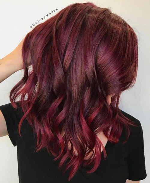 Bright Burgundy Hair Color
