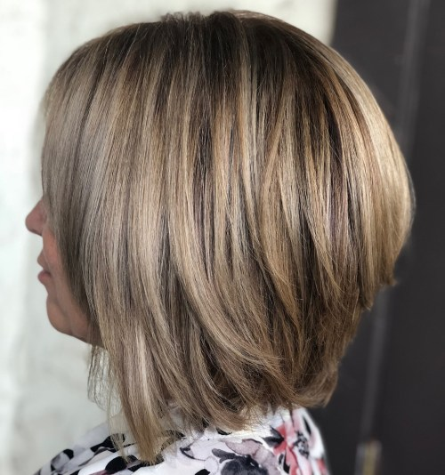 Stacked Long Bob Haircut