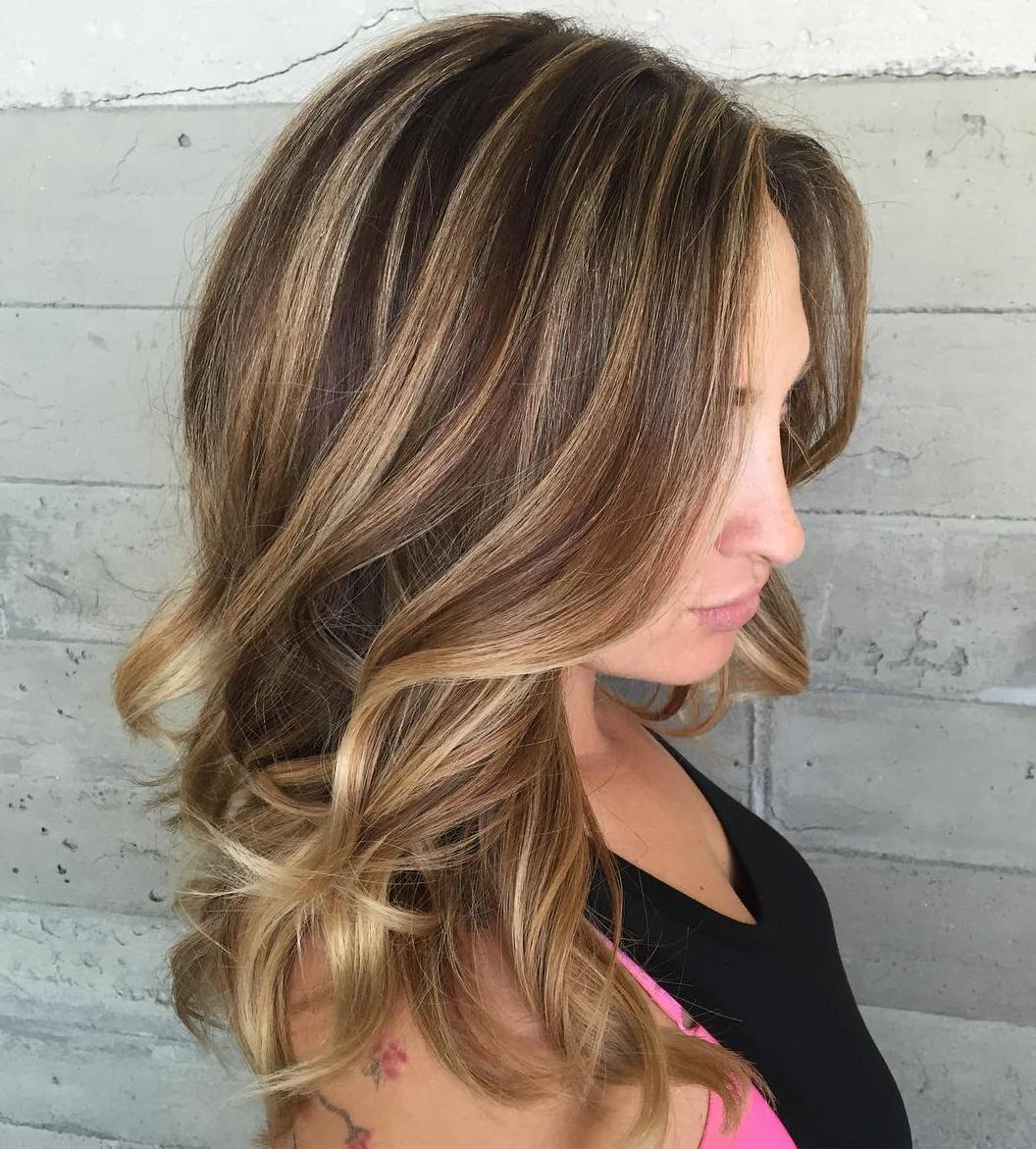 Chocolate And Blonde Balayage Hair & 50 Light Brown Hair Color Ideas with Highlights and Lowlights