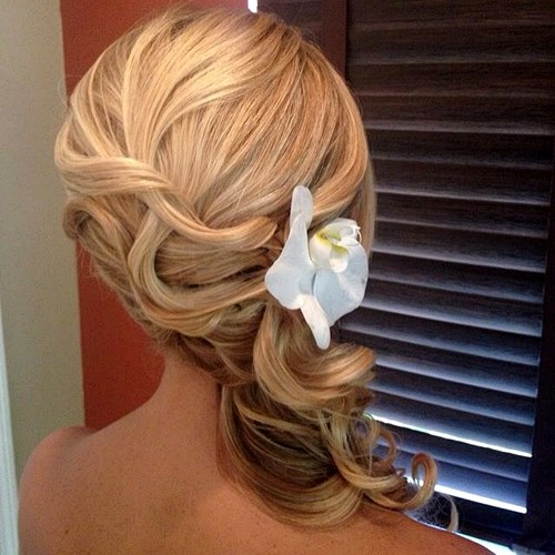 Curly Side Updo For Wedding Or Prom