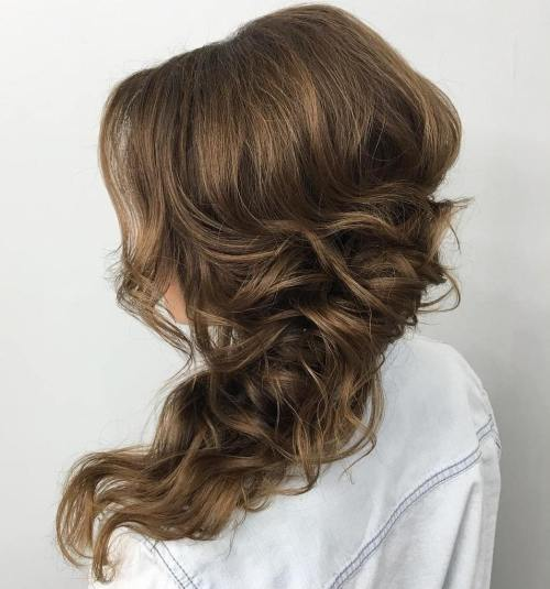 Tousled Wavy Side Hairstyle