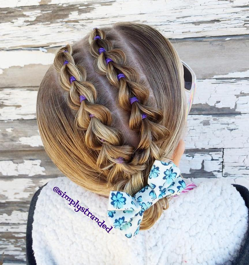 Updo With Pull-Through Braids