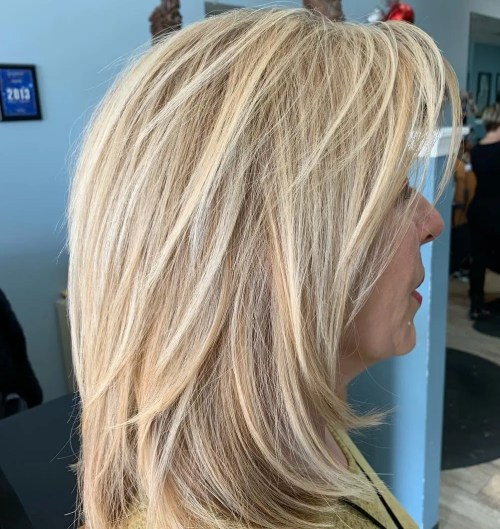 Youthful Shag Hairstyle Over 50