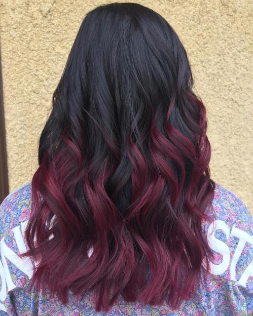 50 Shades Of Burgundy Hair Color Dark Maroon Red Wine