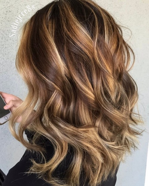 Light Brown Hair With Caramel Blonde Balayage