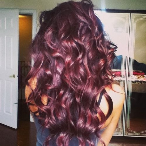 burgundy hair with violet glaze