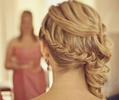 bridal updo with a dutch braid