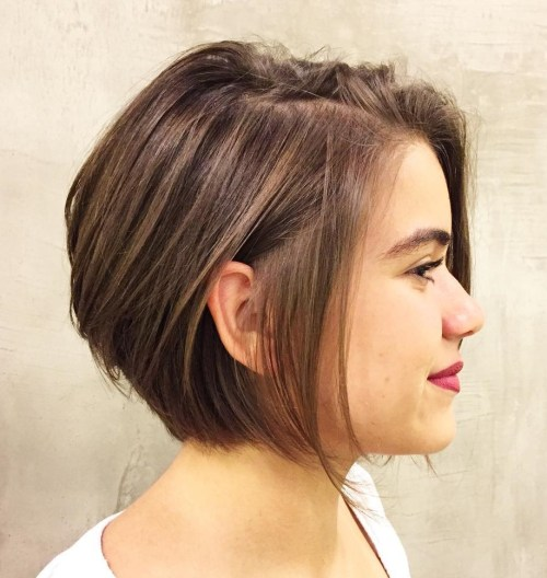 Chin-Length Bob With Dark Blonde Highlights