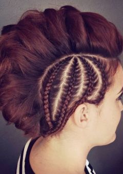 braided Mohawk for thick hair