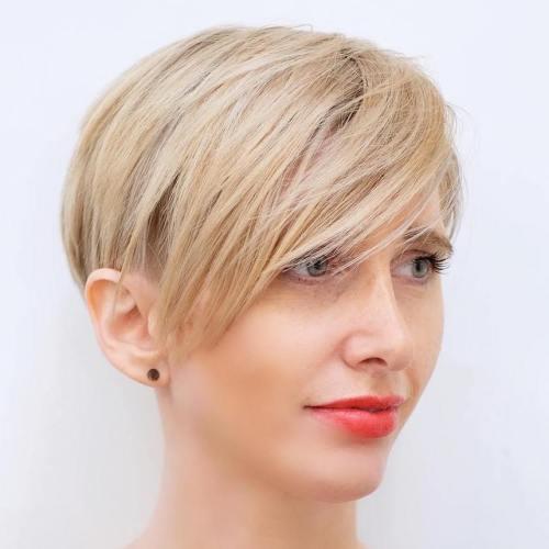 Hairstyles For Fine Hair short fine hair overlap parting Pixie Bob For Fine Hair