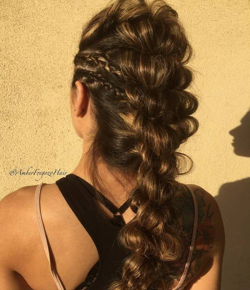 looped mohawk braid