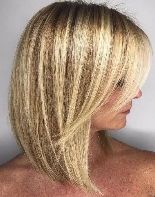 Blonde Lob For Fine Hair