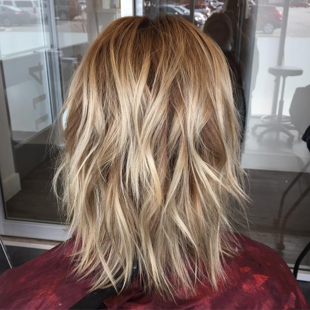 Perfect Medium Blonde Shag Hairstyle
