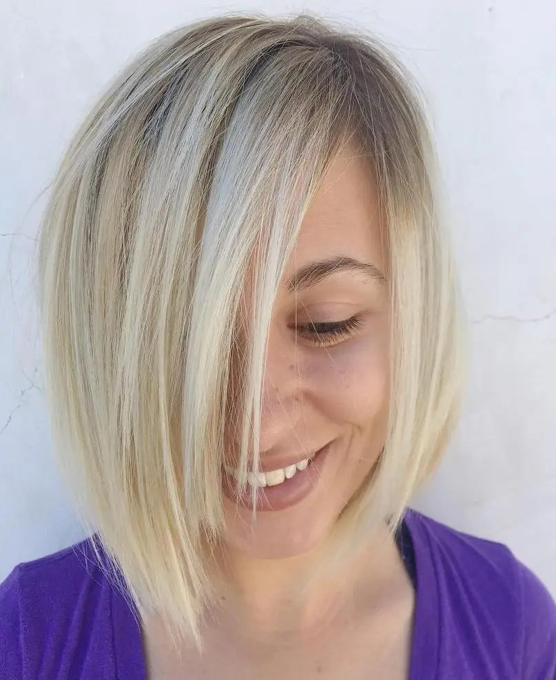 Asymmetrical Bob For Fine Hair