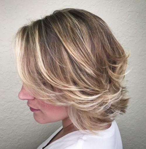 Bob With Flicked And Highlighted Layers