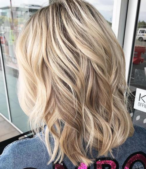 shoulder length blonde hair styles 70 medium length hairstyles for thin hair in 2019 4813 | 14 wavy medium hairstyle