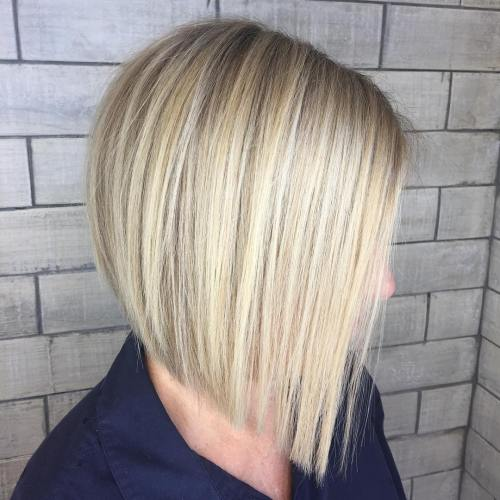 Blunt Blonde Bob For Straight Hair