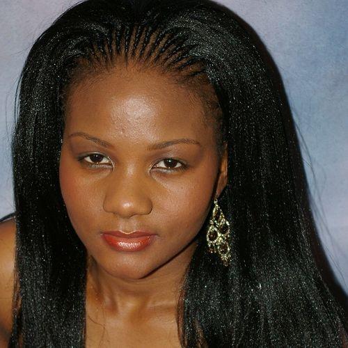 straight tree braids hairstyle