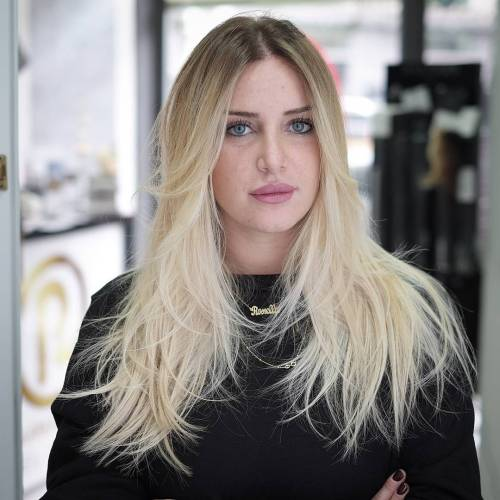Long Blonde Shag For Fine Hair
