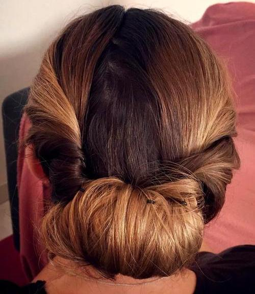 low tuck updo