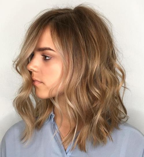 Medium Wavy Hairstyle For Fine Hair