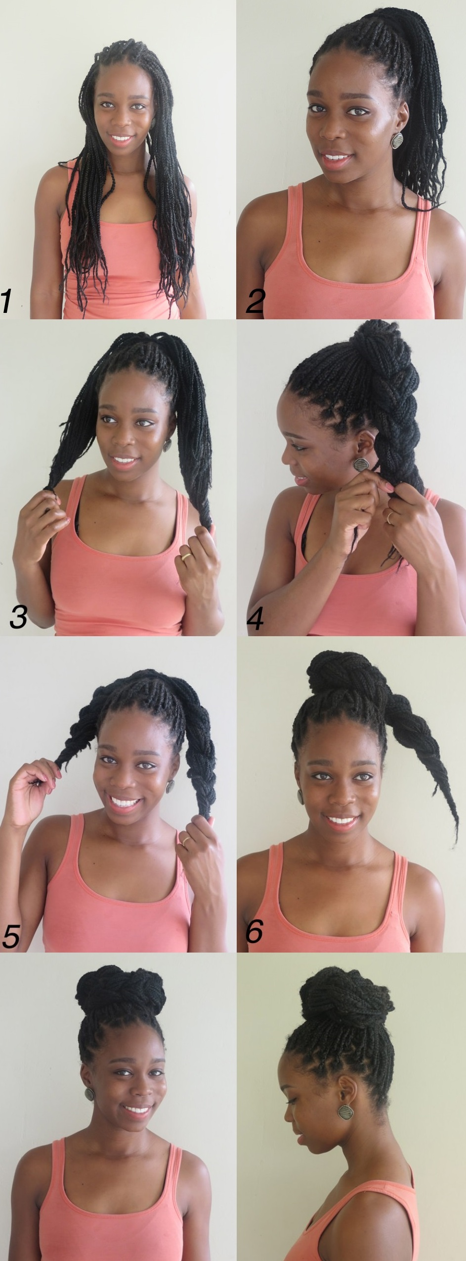 how to style your hair with braids 10 directing you on how to style box braids 6803 | 2 braided bun from box braids tutorial