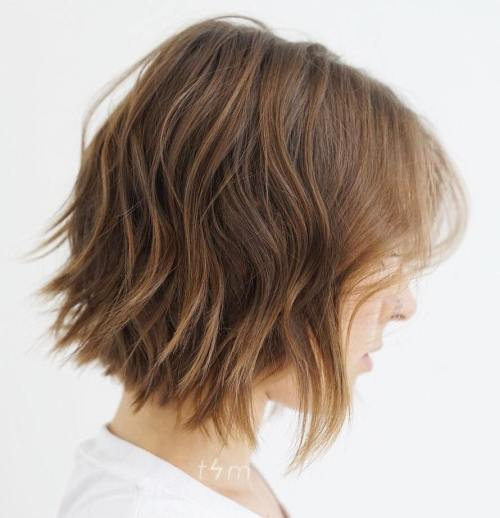 Choppy Wavy Bob For Fine Hair