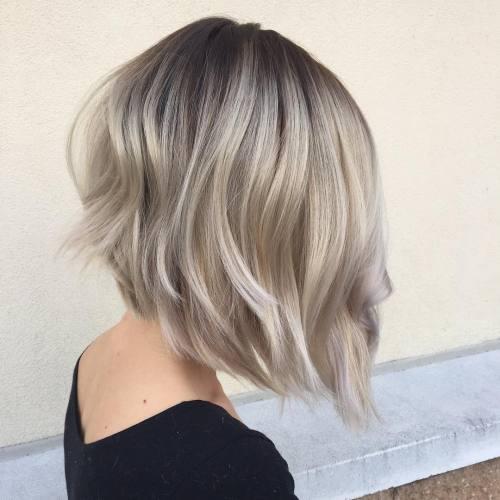 70 devastatingly cool haircuts for thin hair platinum balayage bob pmusecretfo Choice Image