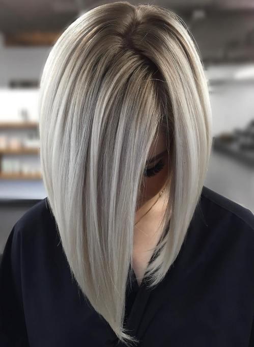 Sleek and Glossy Blonde Balayage Bob