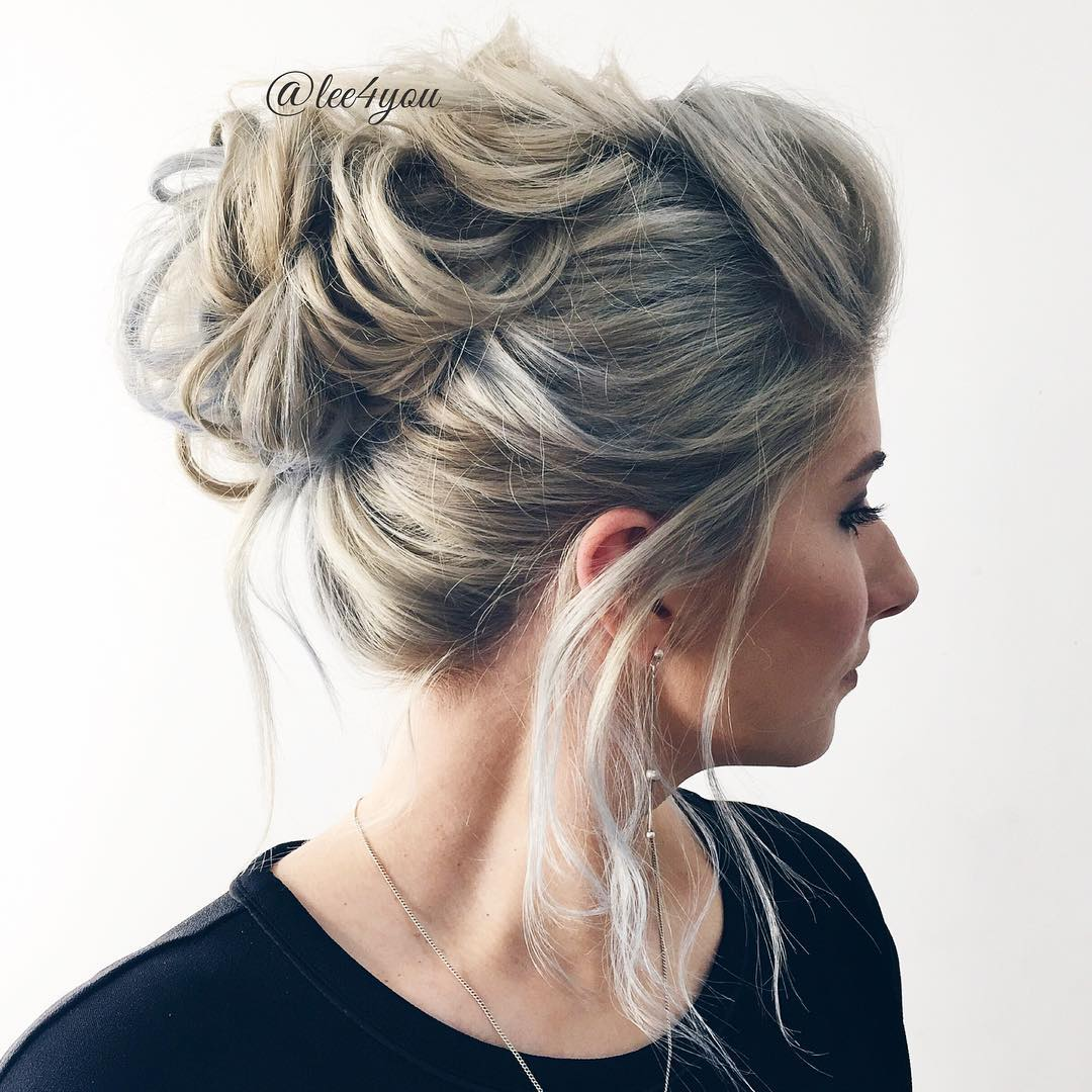 Captivating Looped Messy Updo