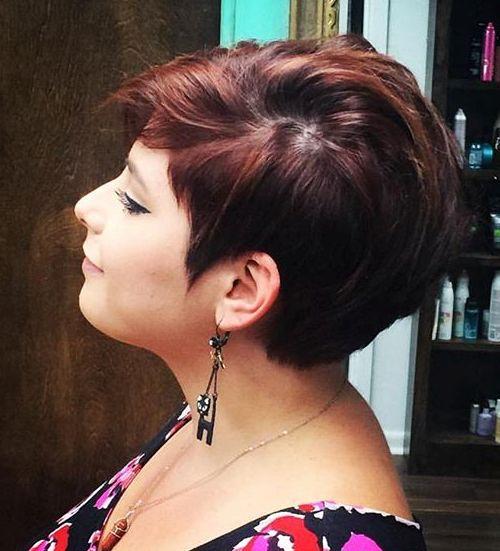 brunette pixie