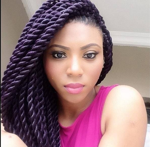 long twists for black women - 50 Thrilling Twist Braid Styles To Try This Season