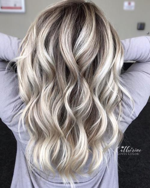 Medium Length Blonde Balayage For Thin Hair