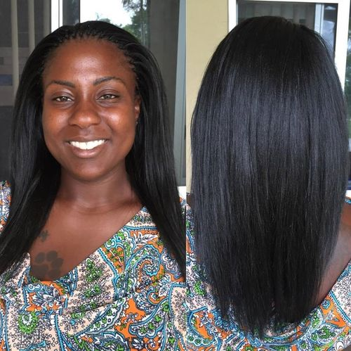 straight tree braids hairstyle