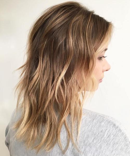 Choppy Layered Cut For Fine Hair